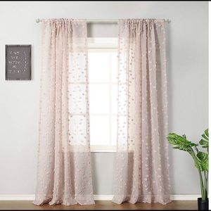 Other - Sheer Dusty Pink with Appliqué Curtains
